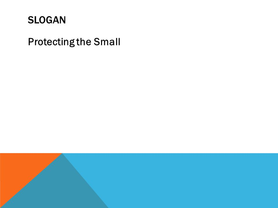 SLOGAN Protecting the Small