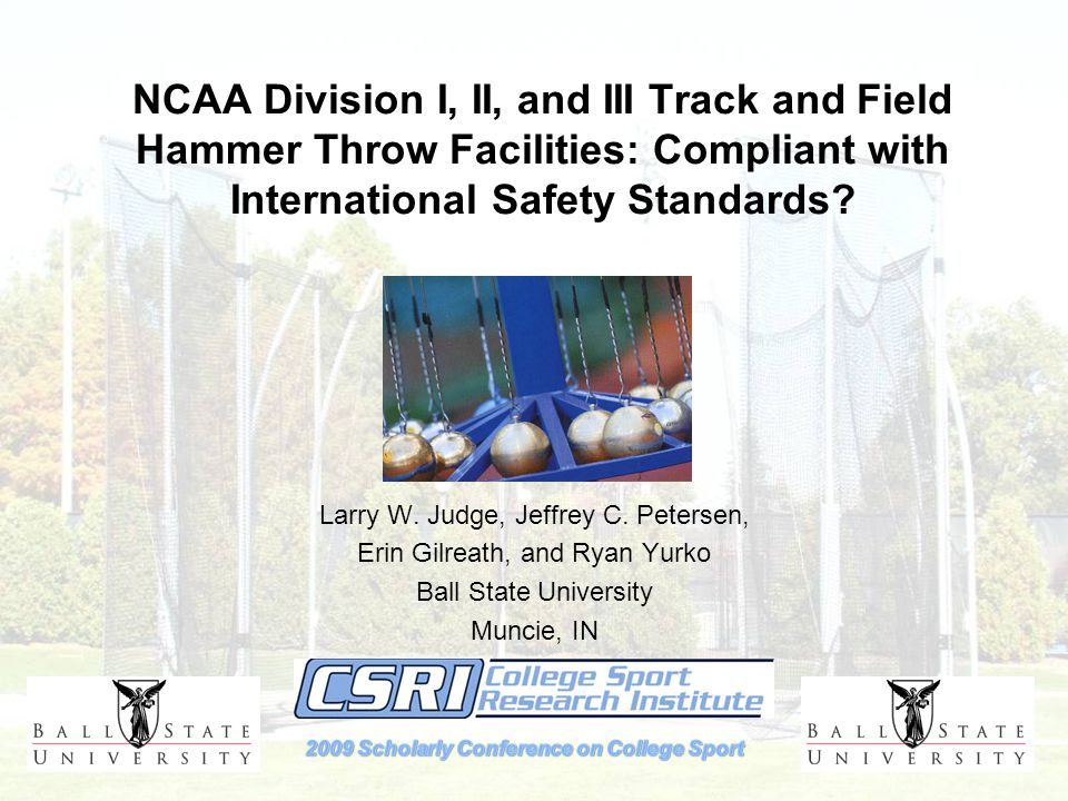 NCAA Division I, II, and III Track and Field Hammer Throw Facilities: Compliant with International Safety Standards.