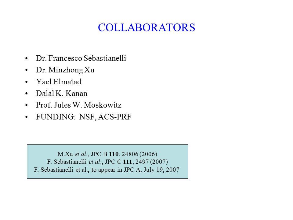 COLLABORATORS Dr. Francesco Sebastianelli Dr. Minzhong Xu Yael Elmatad Dalal K.