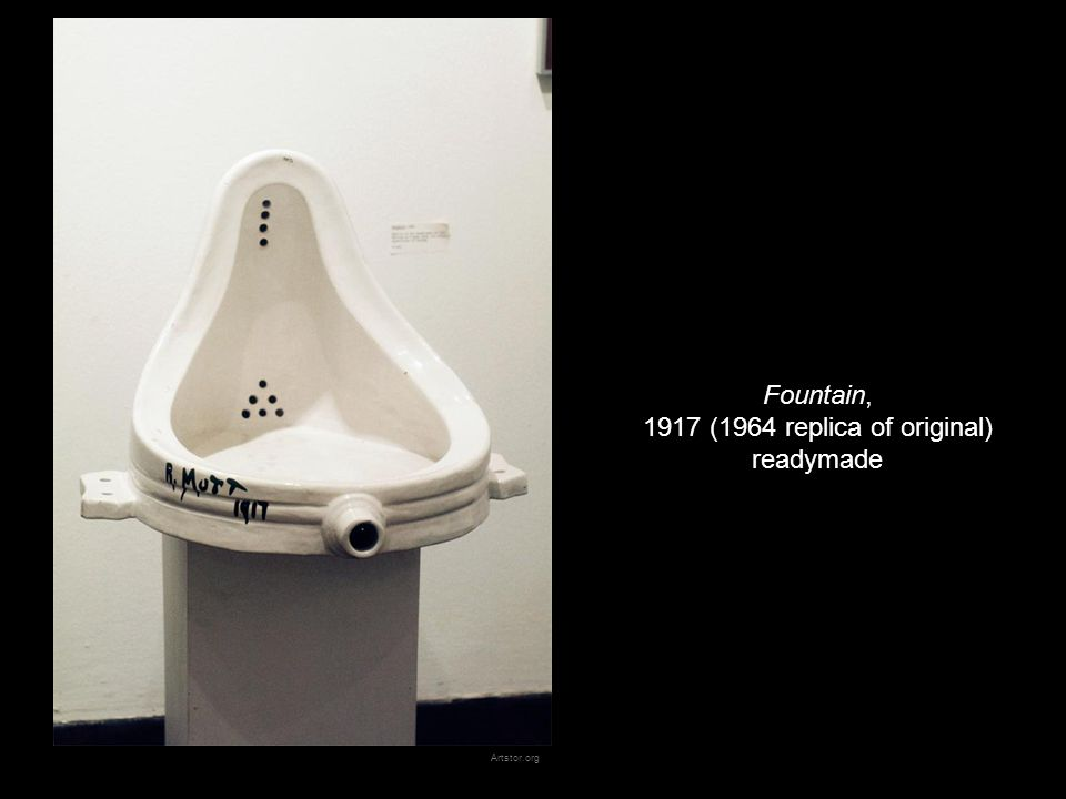 Fountain, 1917 (1964 replica of original) readymade Artstor.org