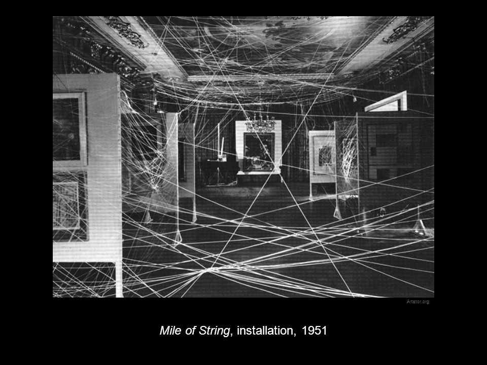 Mile of String, installation, 1951 Artstor.org