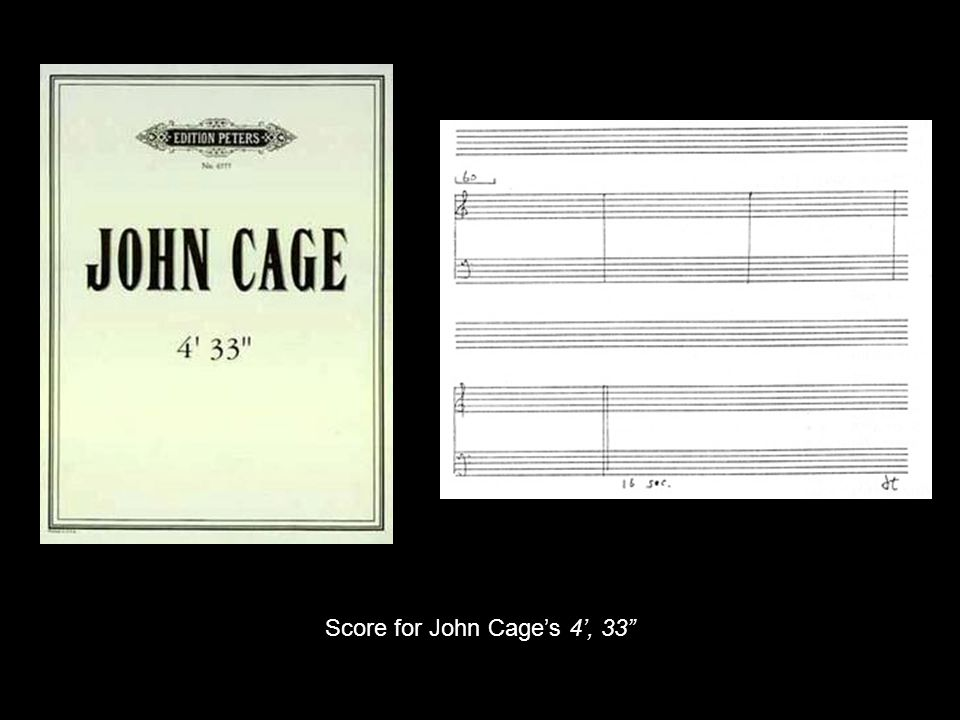 Score for John Cage's 4', 33