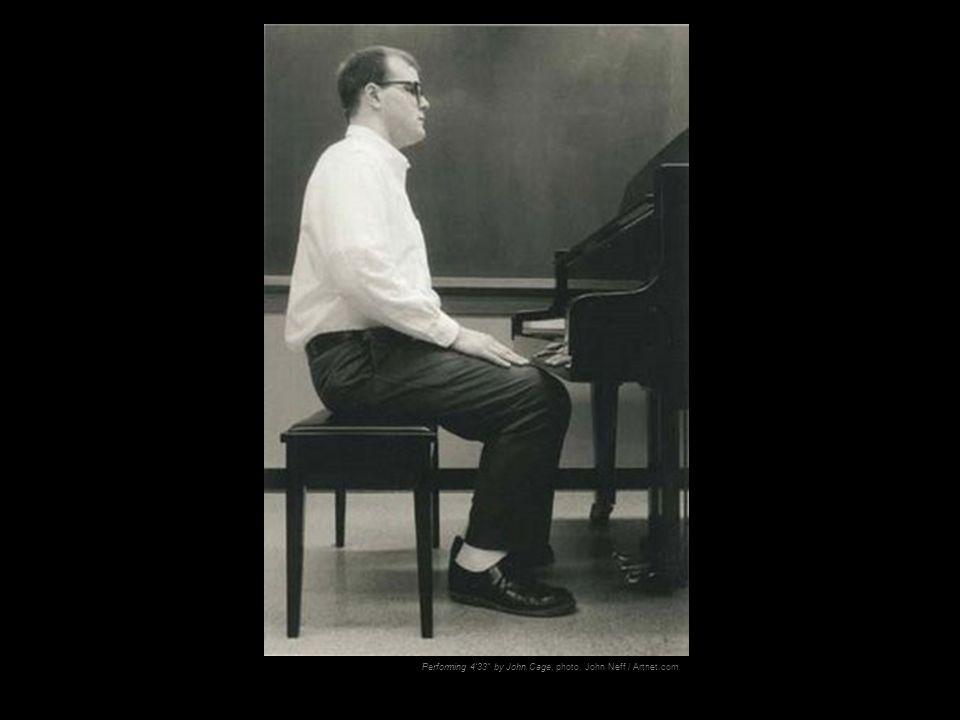 "Performing 4'33"" by John Cage, photo, John Neff / Artnet.com"