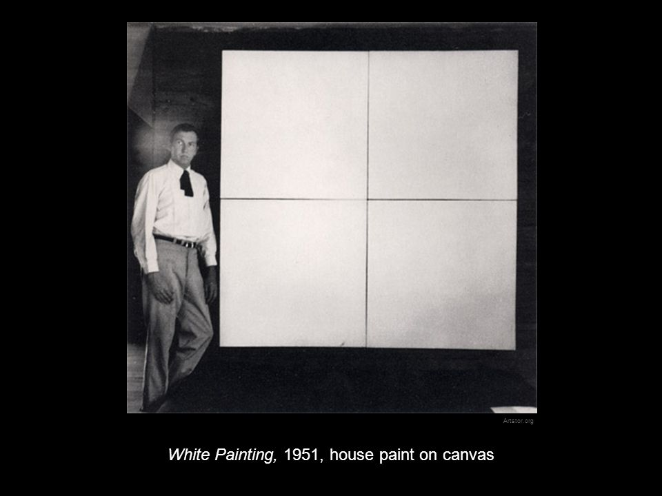 White Painting, 1951, house paint on canvas Artstor.org