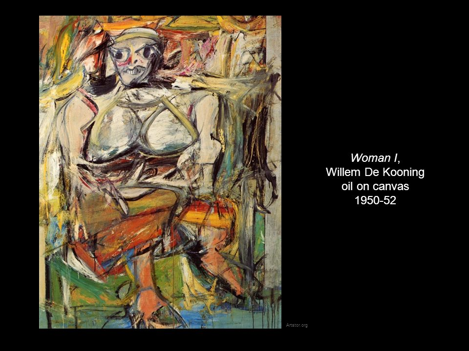 Woman I, Willem De Kooning oil on canvas 1950-52 Artstor.org
