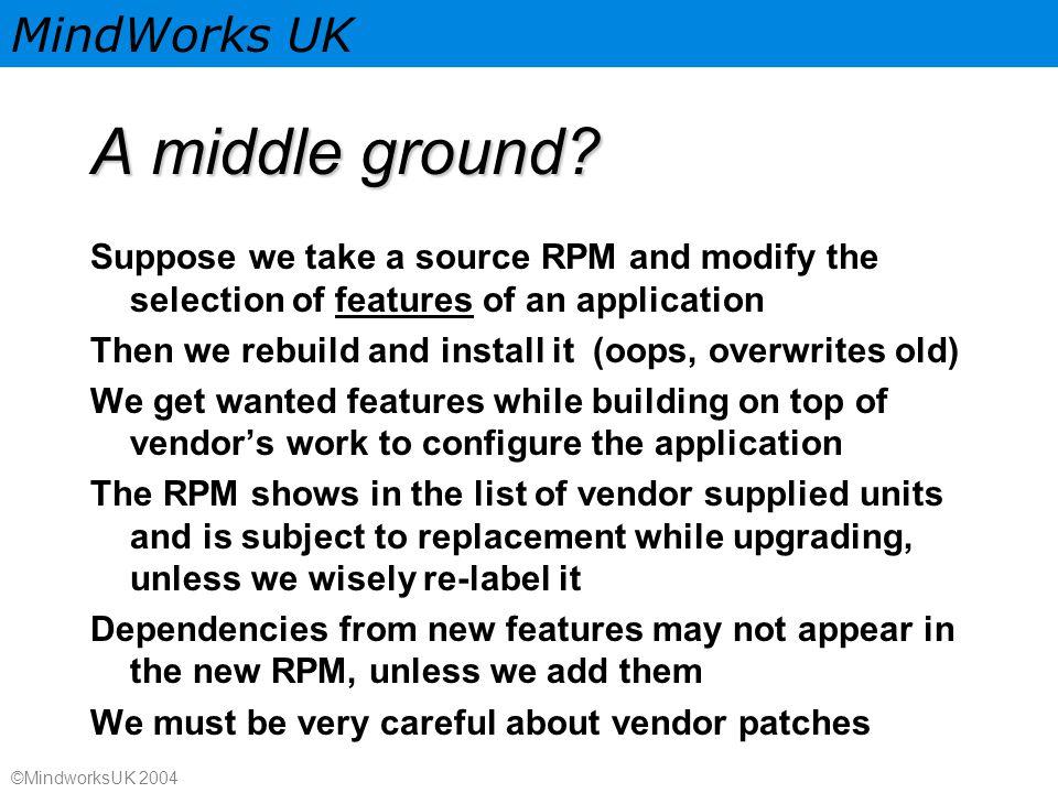 MindWorks UK ©MindworksUK 2004 A middle ground.