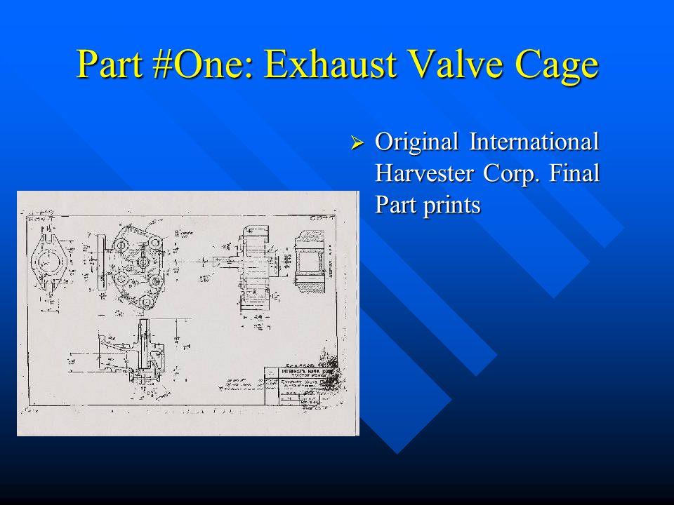 Part #Two: Intake/Exhaust Manifold  Pin Core Box