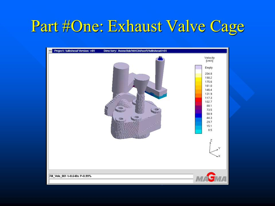 Part #One: Exhaust Valve Cage Cleaned Parts