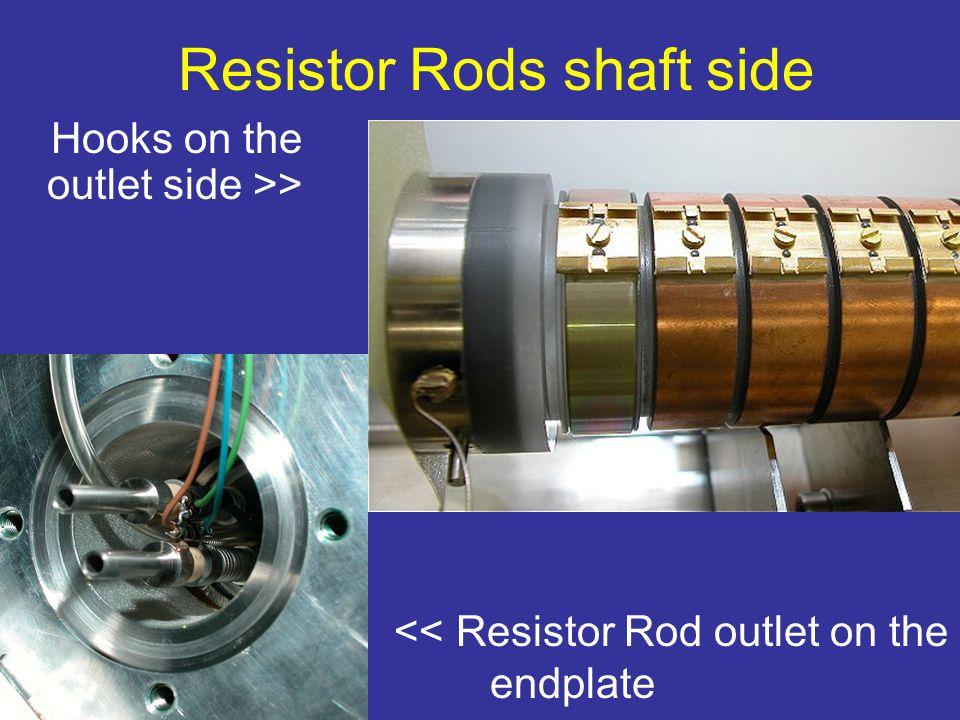 << Resistor Rod outlet on the endplate Resistor Rods shaft side Hooks on the outlet side >>
