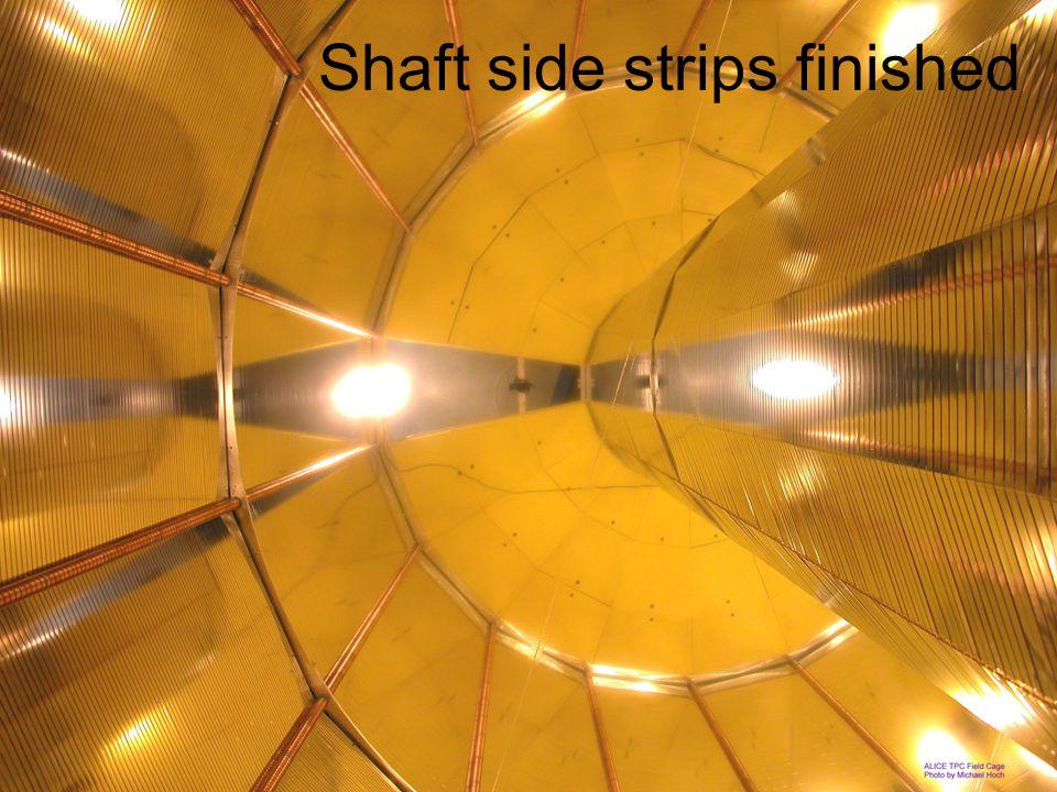 Shaft side strips finished