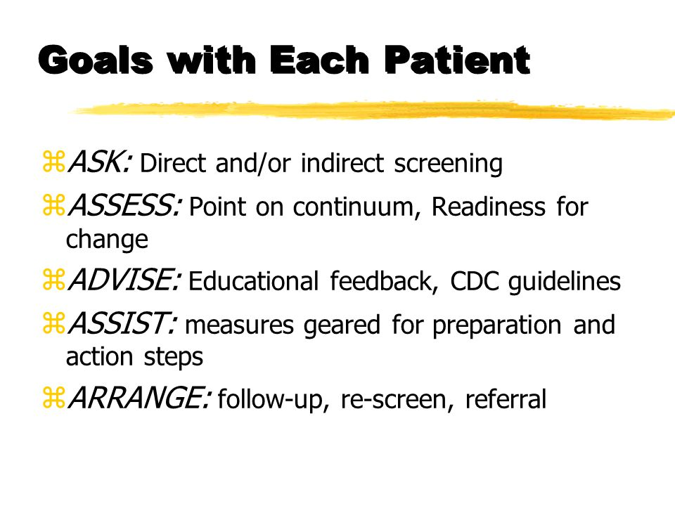 ASSESS.Point on Continuum/Risk Status zAt-Risk yExceed recommended guidelines.