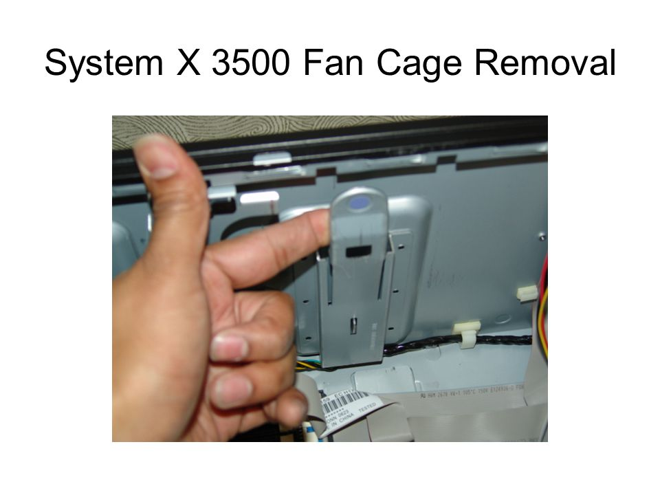 System X 3500 Fan Cage Removal
