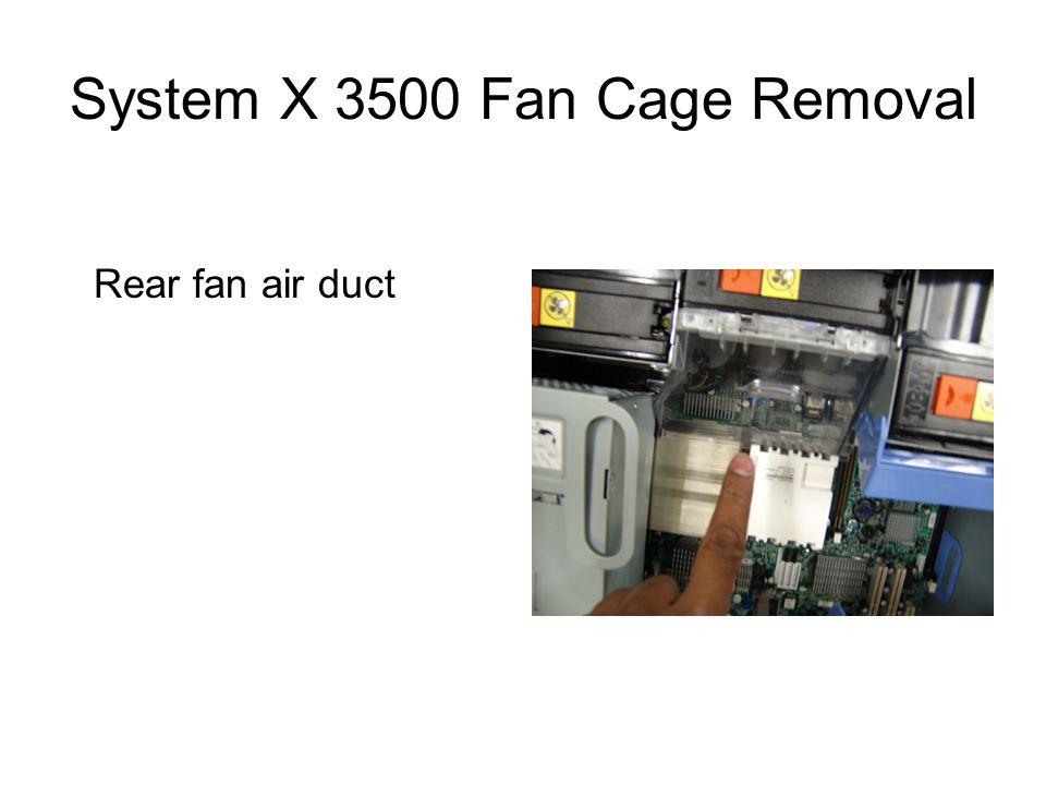 Rear fan air duct