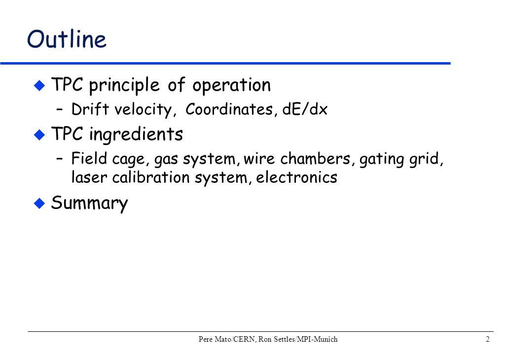 Pere Mato/CERN, Ron Settles/MPI-Munich13 Coordinate Resolutions: ALEPH TPC