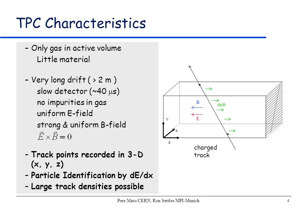 Pere Mato/CERN, Ron Settles/MPI-Munich15 Particle Identification by dE/dx –Energy loss (dE/dx) depends on the particle velocity.
