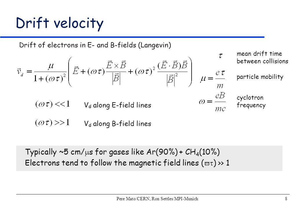 Pere Mato/CERN, Ron Settles/MPI-Munich29 Laser Calibration System Purpose Measurement of drift velocity Determination of E- and B-field distortions Drift velocity Measurement of time arrival difference of ionization from 2 laser tracks with known position ExB Distortions Compensate residuals of straight line Compare laser tracks with and without B- field Laser tracks in the ALEPH TPC