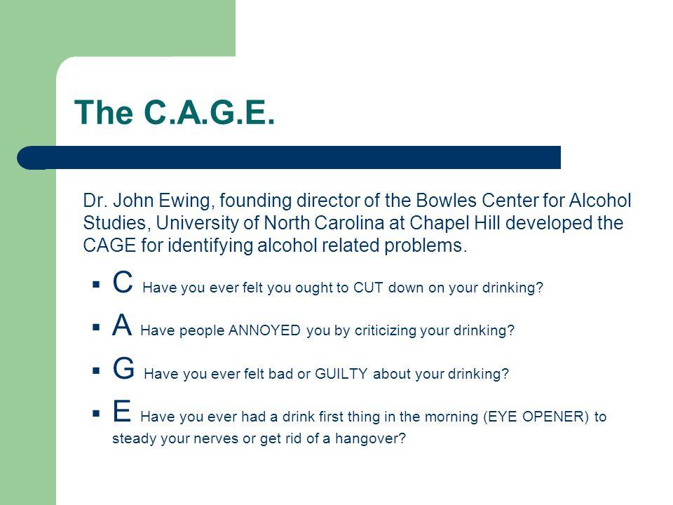 The C.A.G.E. Dr.