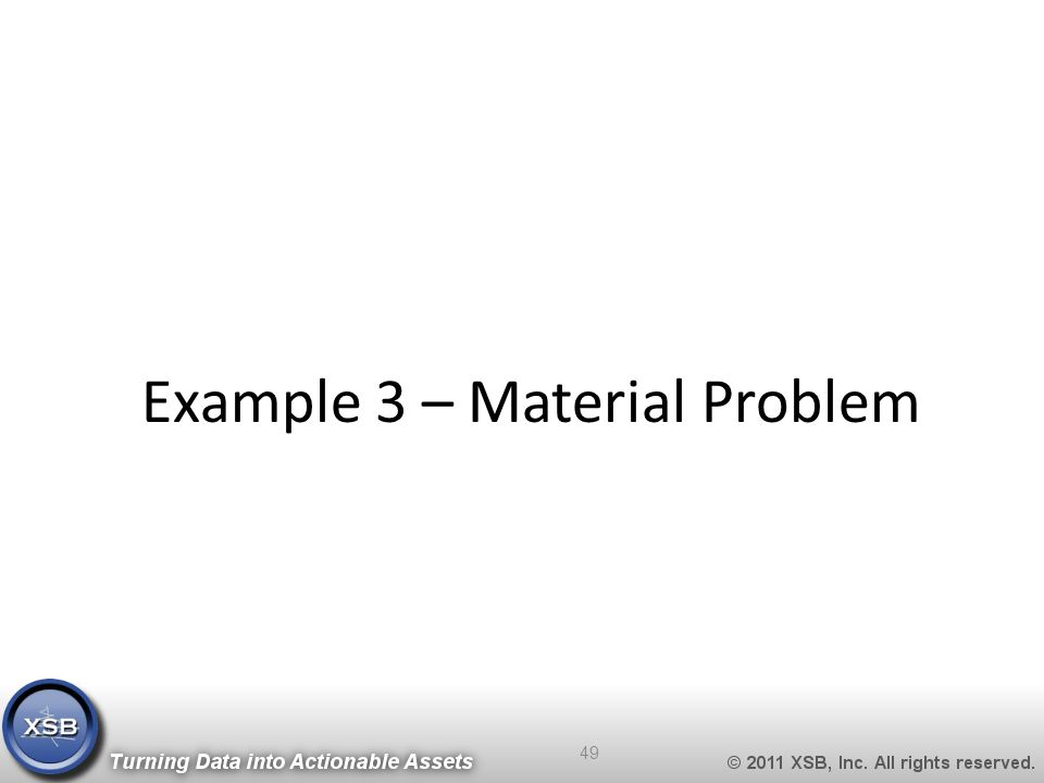 Example 3 – Material Problem 49