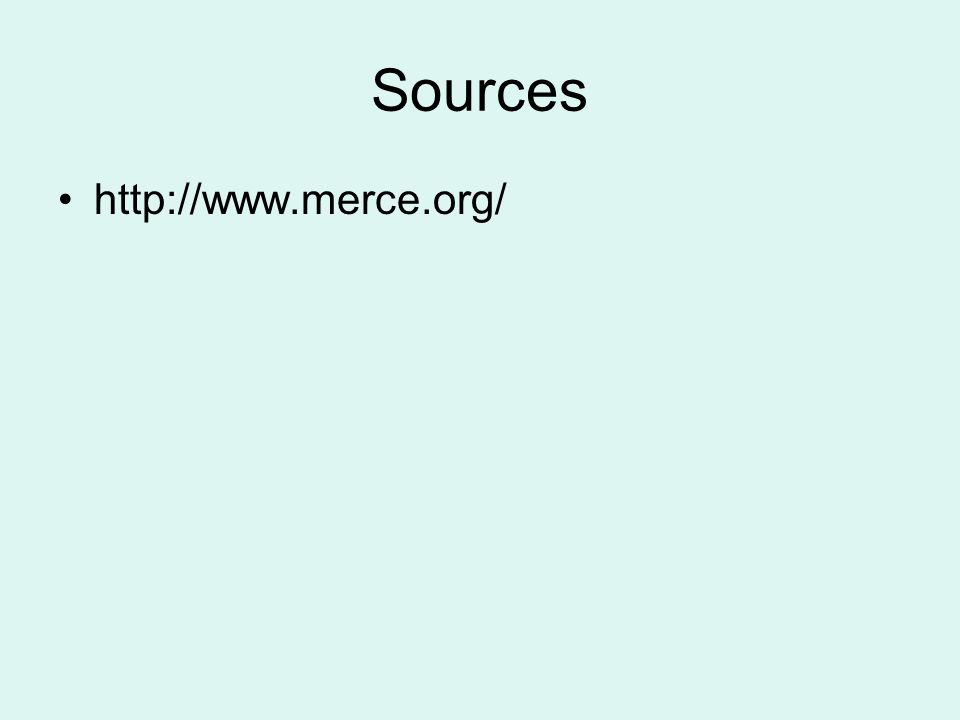 Sources http://www.merce.org/