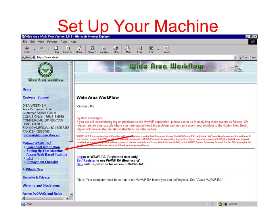 Must follow these steps before using WAWF, not all necessarily apply/printable instructions available