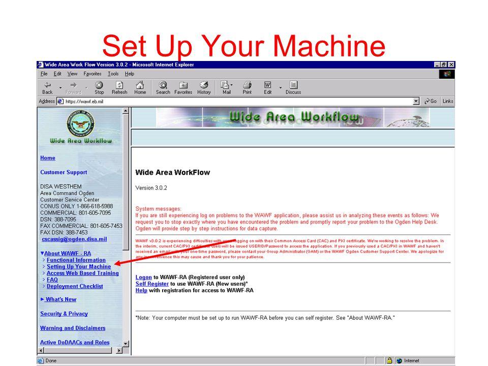 Set Up Your Machine