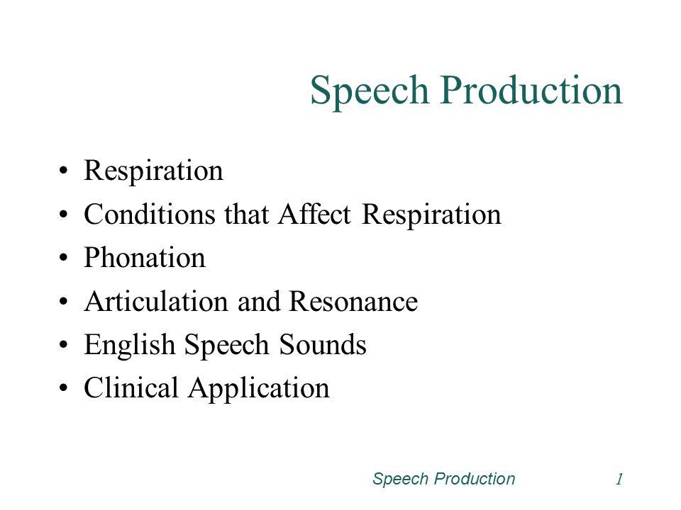 Speech Production21