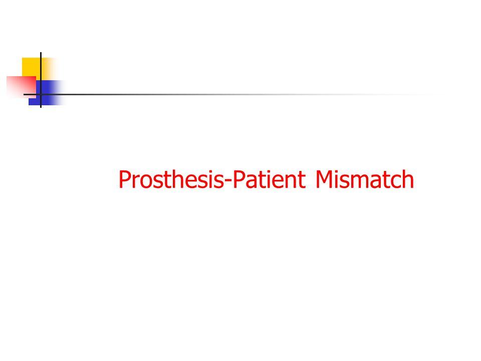Prosthesis-Patient Mismatch