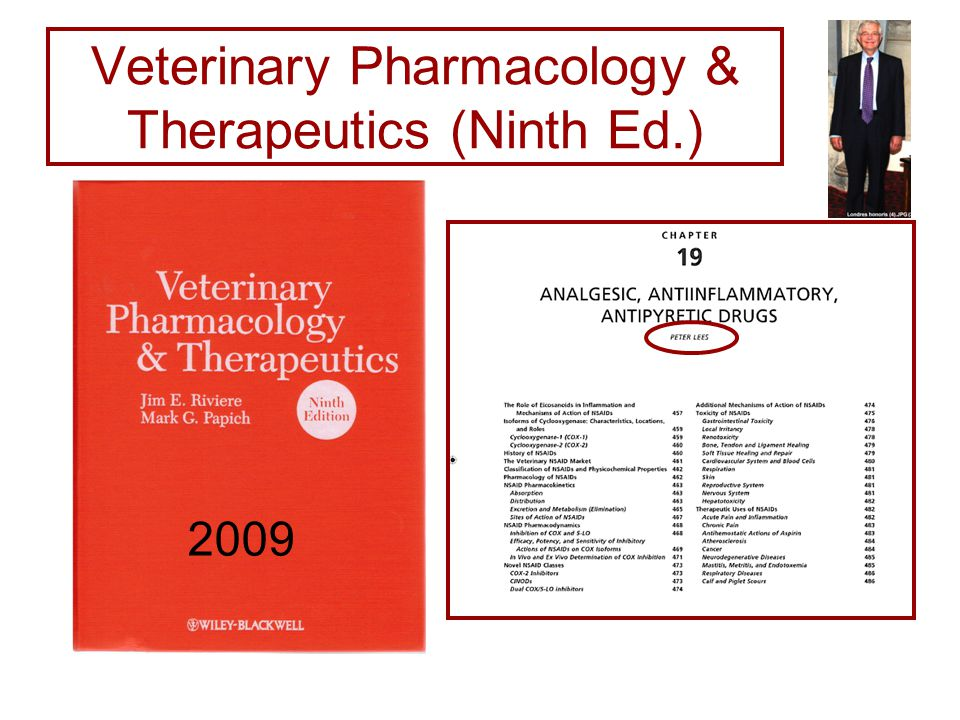 Veterinary Pharmacology & Therapeutics (Ninth Ed.) 2009