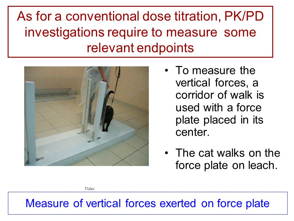 Measure of vertical forces exerted on force plate To measure the vertical forces, a corridor of walk is used with a force plate placed in its center.