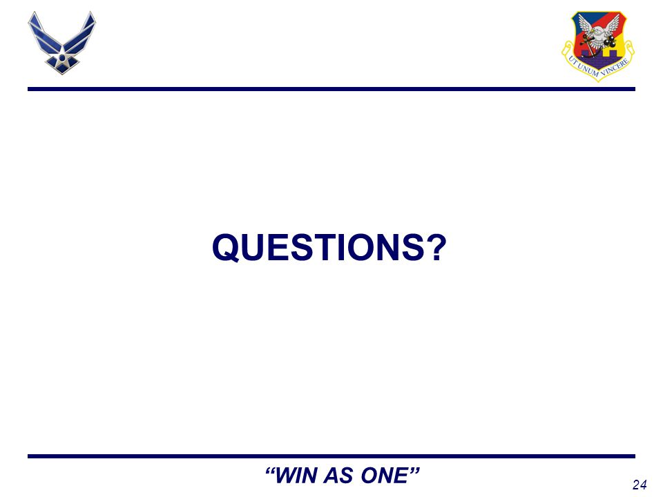 24 WIN AS ONE QUESTIONS