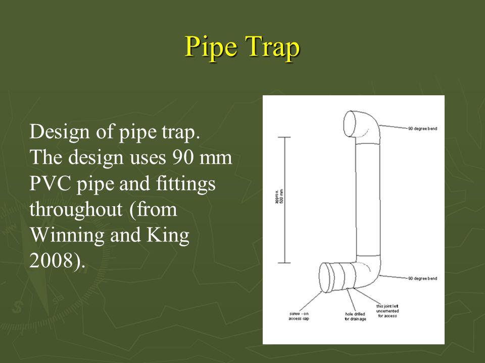 Pipe Trap Design of pipe trap.