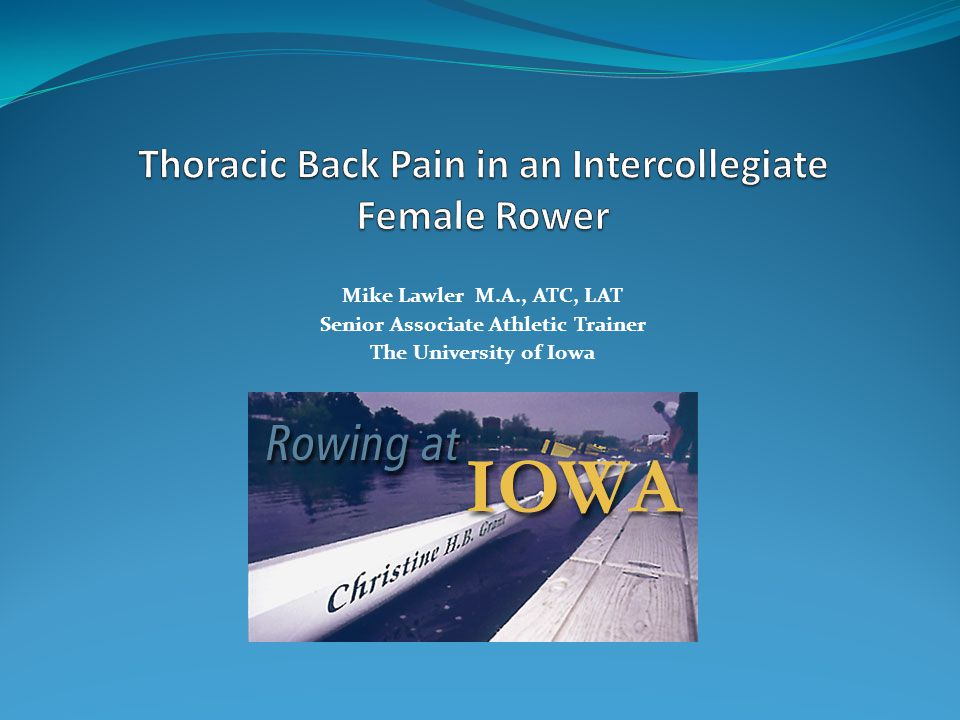 Mike Lawler M.A., ATC, LAT Senior Associate Athletic Trainer The University of Iowa