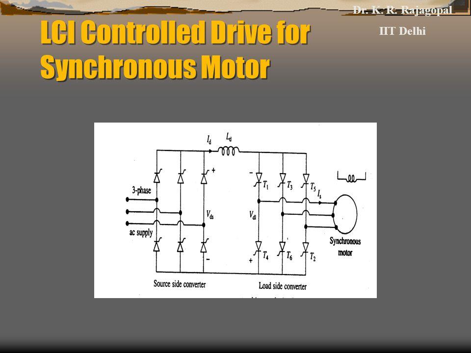 LCI Controlled Drive for Synchronous Motor Dr. K. R. Rajagopal IIT Delhi