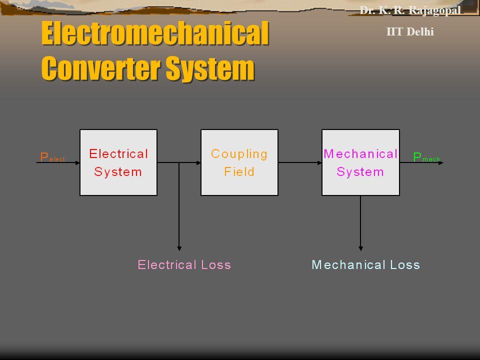 Electromechanical Converter System Dr. K. R. Rajagopal IIT Delhi