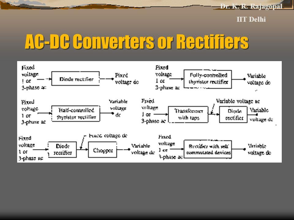 AC-DC Converters or Rectifiers Dr. K. R. Rajagopal IIT Delhi
