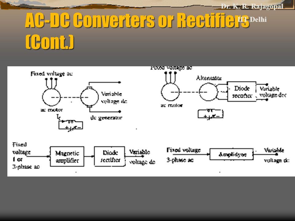 AC-DC Converters or Rectifiers (Cont.) Dr. K. R. Rajagopal IIT Delhi