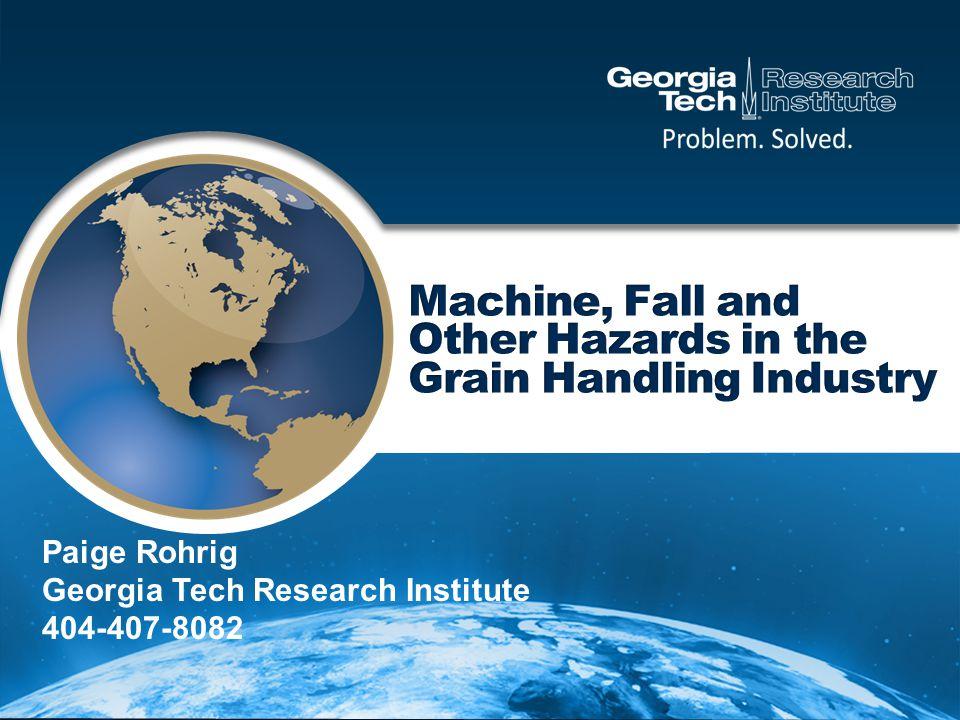 Paige Rohrig Georgia Tech Research Institute 404-407-8082