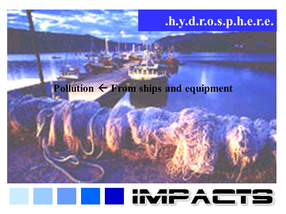 .h.y.d.r.o.s.p.h.e.r.e. Pollution  From ships and equipment