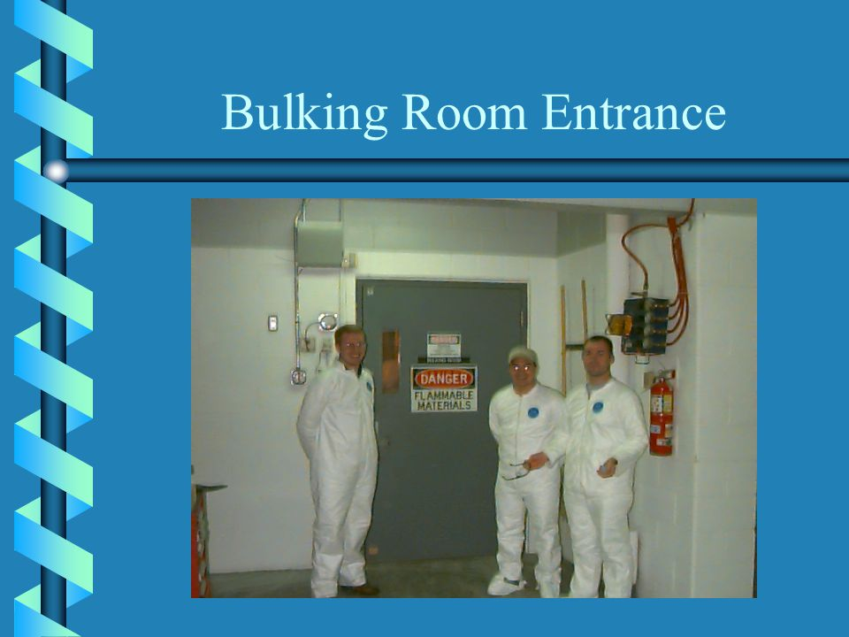 Bulking Room Entrance