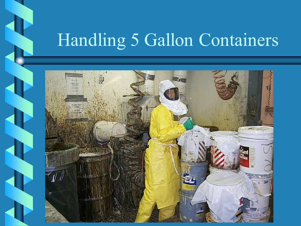 Handling 5 Gallon Containers