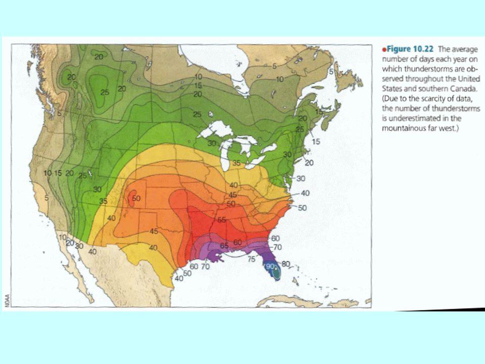 Thunderstorm Hazards  Lightning  Tornadoes/downbursts  Hail  Flash Floods