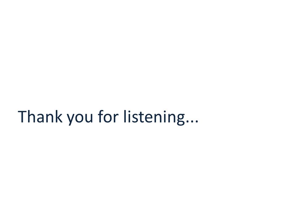 Thank you for listening...