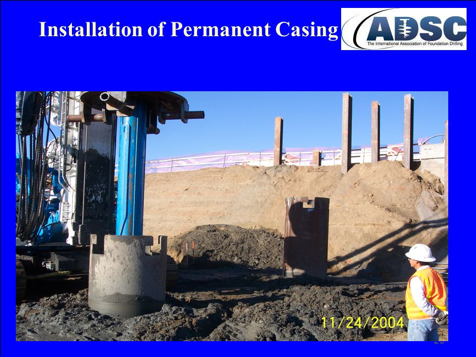23 Installation of Permanent Casing
