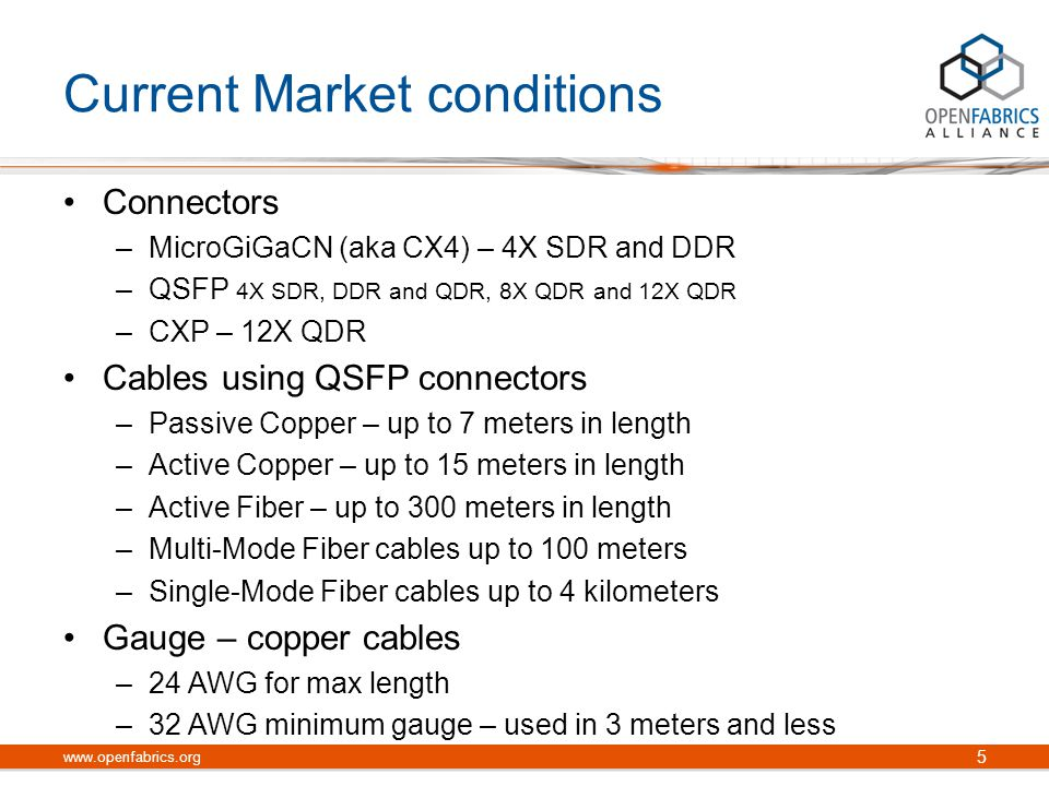 26 www.openfabrics.org 12x CXP Family of Products CXP / CXP CXP / MicroGiga 12x CXP / MicroGiga 4xCXP / QSFP+