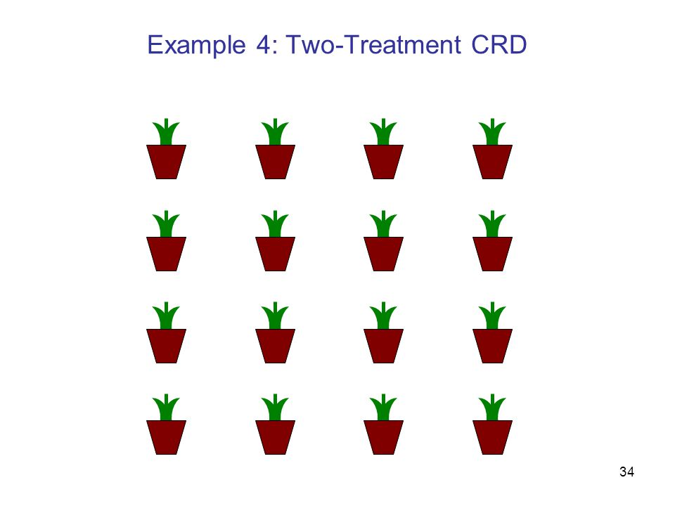 34 Example 4: Two-Treatment CRD