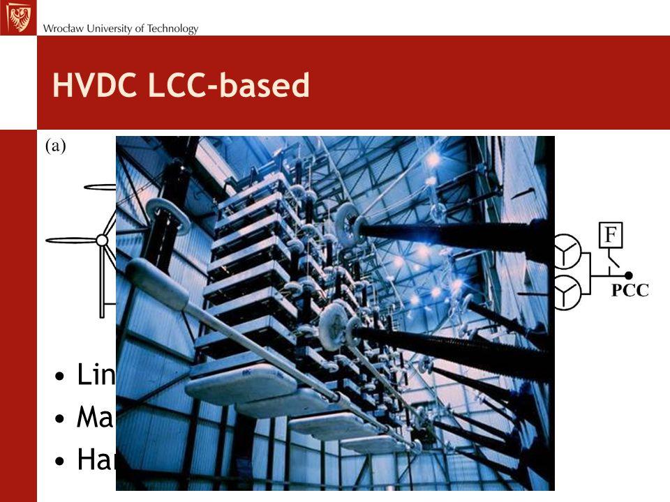 HVDC LCC-based Line-commutated converters Many disadvantages Harmonics
