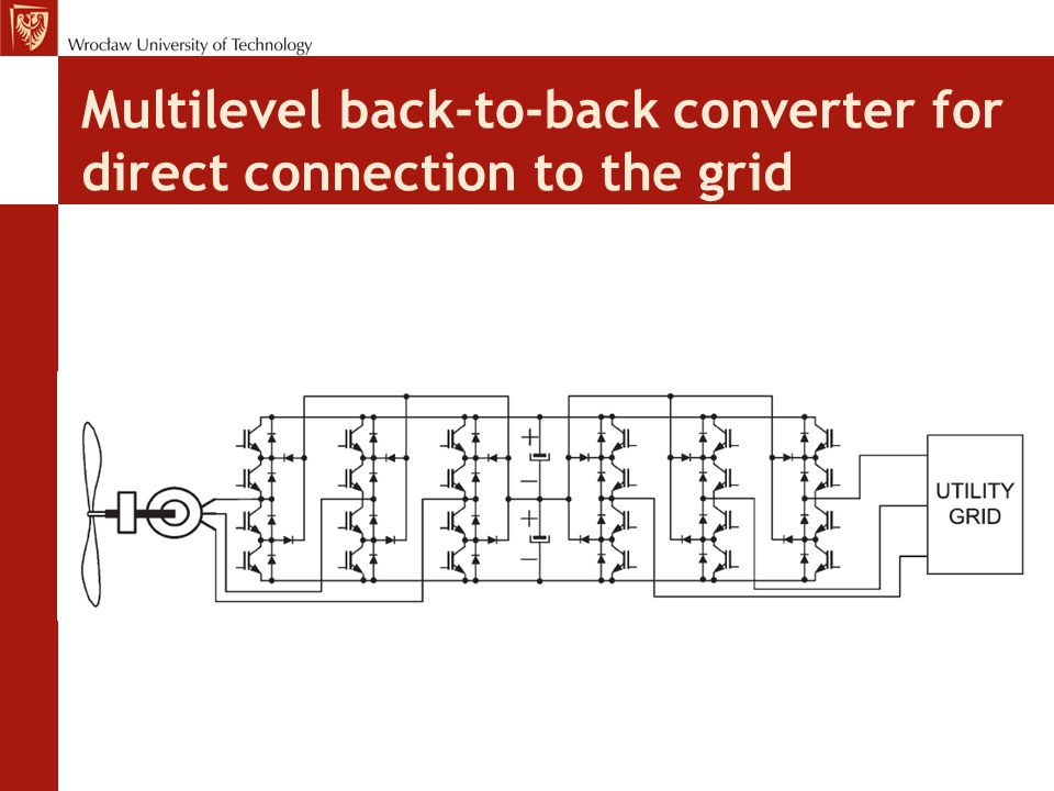 Multilevel back-to-back converter for direct connection to the grid