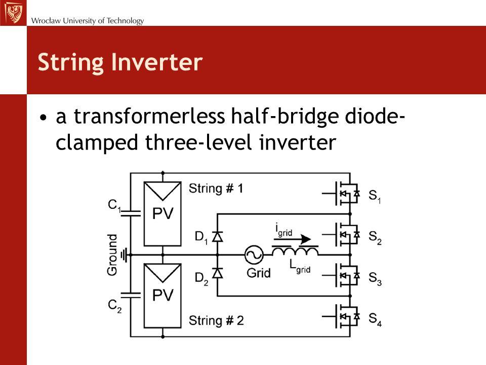 String Inverter a transformerless half-bridge diode- clamped three-level inverter