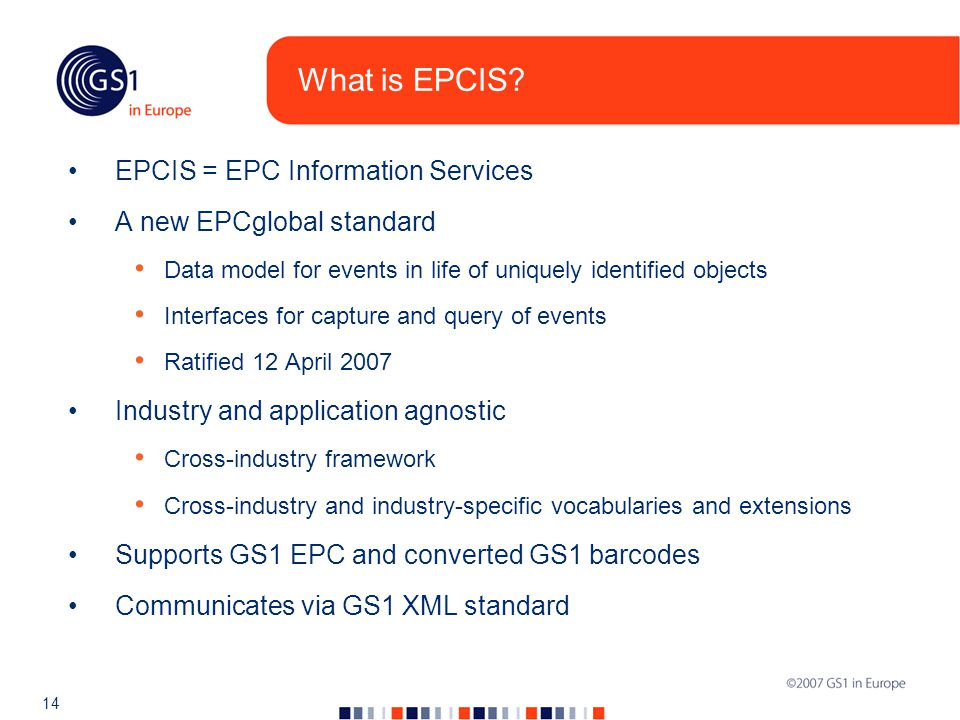 14 What is EPCIS.