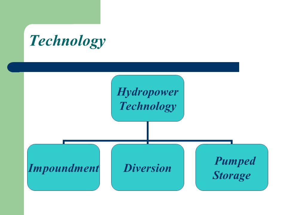 Technology Hydropower Technology ImpoundmentDiversion Pumped Storage
